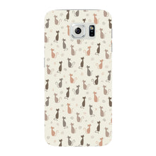 Stylish Cats Pattern Phone Case Samsung Galaxy S6 Edge case