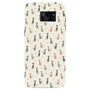 Stylish Cats Pattern Phone Case Samsung Galaxy S7 Edge case