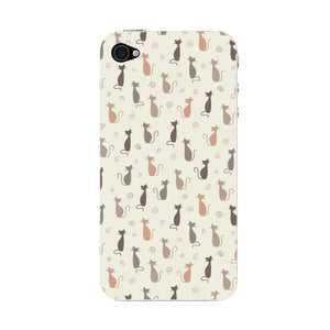 Stylish Cats Pattern Phone Case iPhone 4S case