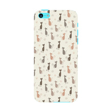 Stylish Cats Pattern Phone Case iPhone 5C case