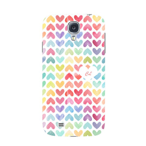 Watercolor Hearts Custom Phone Case Samsung Galaxy S4 case