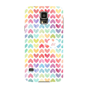 Watercolor Hearts Custom Phone Case Samsung Galaxy S5 case