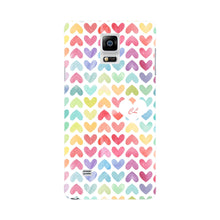 Watercolor Hearts Custom Phone Case Samsung Galaxy Note 4 case