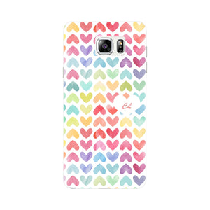Watercolor Hearts Custom Phone Case Samsung Galaxy Note 5 case