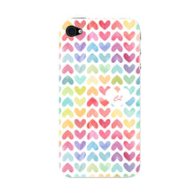 Watercolor Hearts Custom Phone Case iPhone 4S case