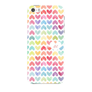 Watercolor Hearts Custom Phone Case iPhone 5 case