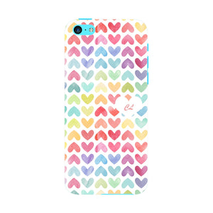 Watercolor Hearts Custom Phone Case iPhone 5C case
