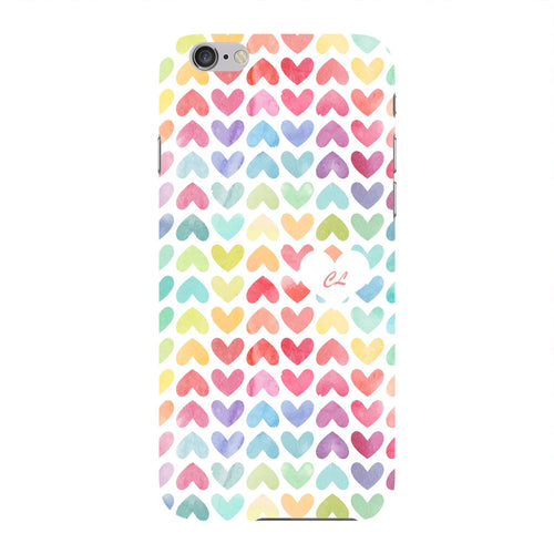Watercolor Hearts Custom Phone Case iPhone 6 case