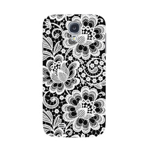 White Lace Pattern Phone Case Samsung Galaxy S4 case