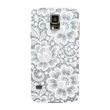 White Lace Pattern Phone Case Samsung Galaxy S5 case