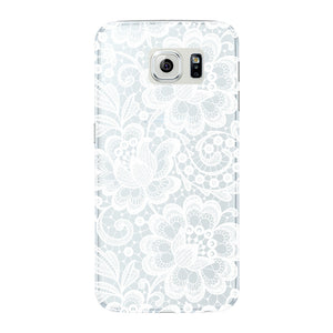 White Lace Pattern Phone Case Samsung Galaxy S6 Edge case