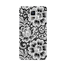 White Lace Pattern Phone Case Samsung Galaxy Note 4 case