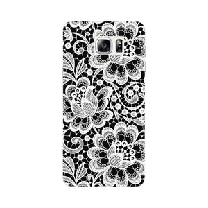 White Lace Pattern Phone Case Samsung Galaxy Note 5 case