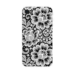 White Lace Pattern Phone Case iPhone 4S case