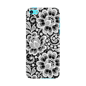 White Lace Pattern Phone Case iPhone 5C case