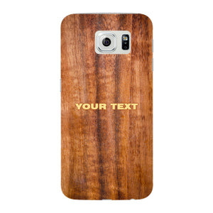 Wood Texture Custom Phone Case Samsung Galaxy S6 Edge case