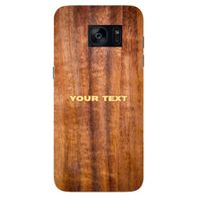 Wood Texture Custom Phone Case Samsung Galaxy S7 Edge case