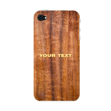 Wood Texture Custom Phone Case iPhone 4S case