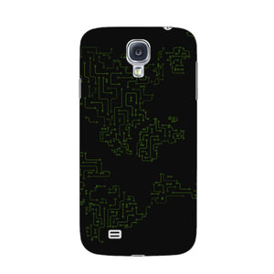 World Map Circuit Board Phone Case Samsung Galaxy S4 case