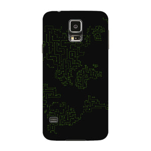 World Map Circuit Board Phone Case Samsung Galaxy S5 case