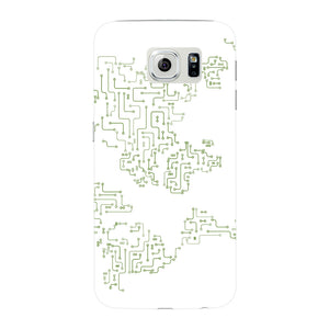 World Map Circuit Board Phone Case Samsung Galaxy S6 Edge case