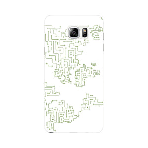 World Map Circuit Board Phone Case Samsung Galaxy Note 4 case