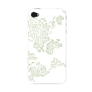 World Map Circuit Board Phone Case iPhone 4S case