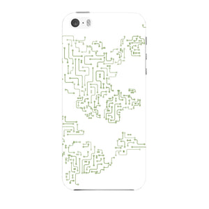 World Map Circuit Board Phone Case iPhone 5 case