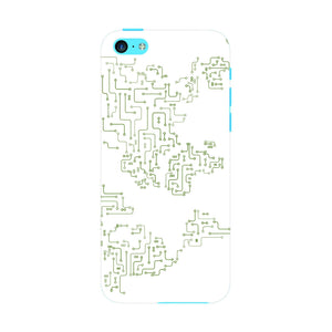 World Map Circuit Board Phone Case iPhone 5C case