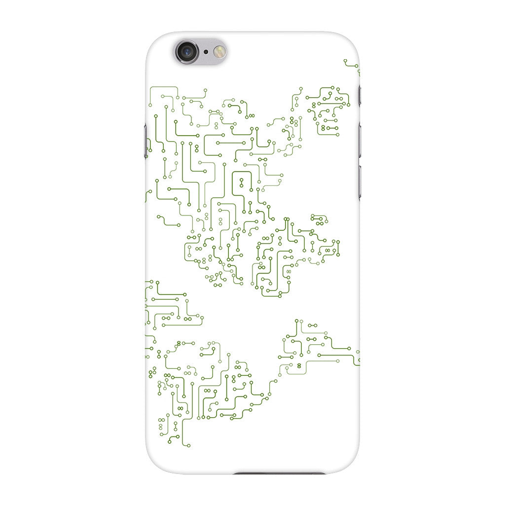 World Map Circuit Board Phone Case iPhone 6 case