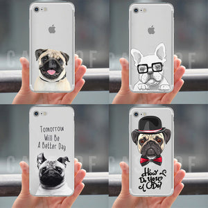 Pugs iPhone Clear Phone Cases