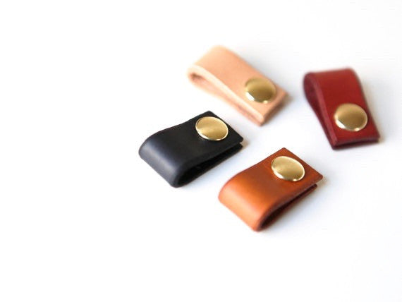 Leather earbud organizer. Solid Manufacturing Co.
