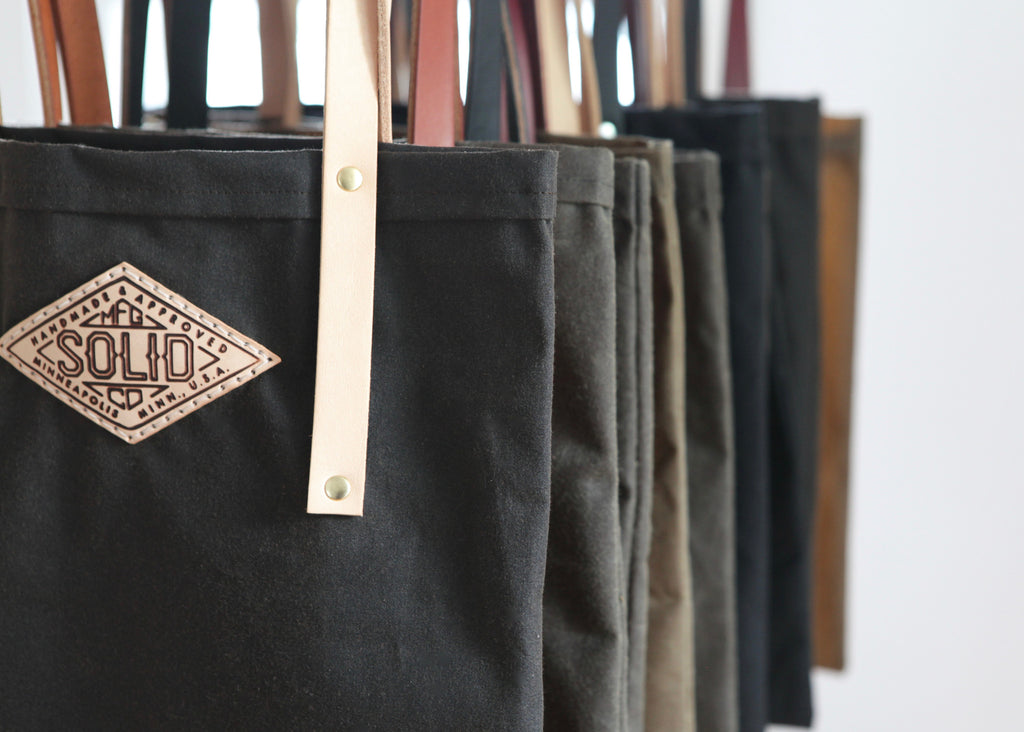 Waxed Canvas Tote Bag. Solid Manufacturing Co.