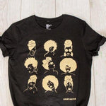 Afro and Headwrap T shirt - loveyaayaa