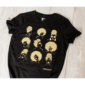 Afrocentric T shirt - The sistas - loveyaayaa