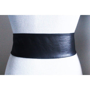 Black Corset Waist Gold Buckle Belt - loveyaayaa