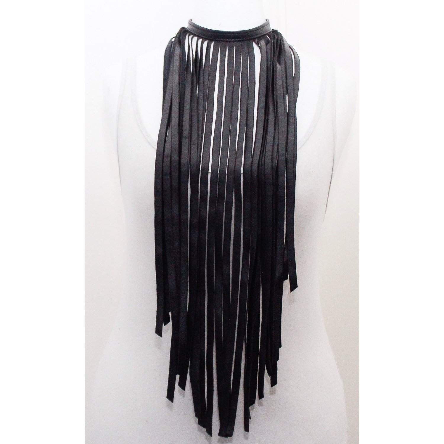 Black Fringe Necklace - loveyaayaa