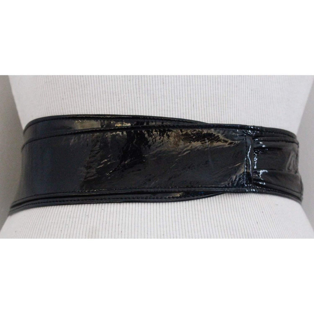 Black Patent Leather Belt - loveyaayaa