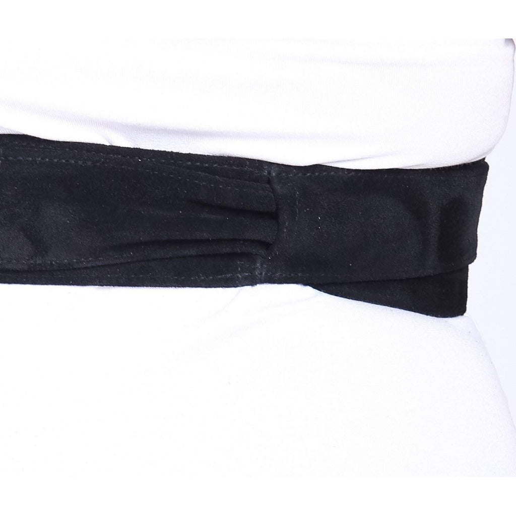 Black Suede Obi Belt - loveyaayaa