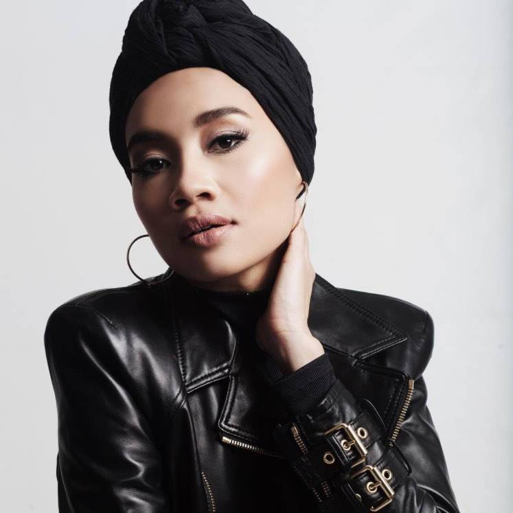 Black Turban Head scarf |  Black Headwrap - loveyaayaa