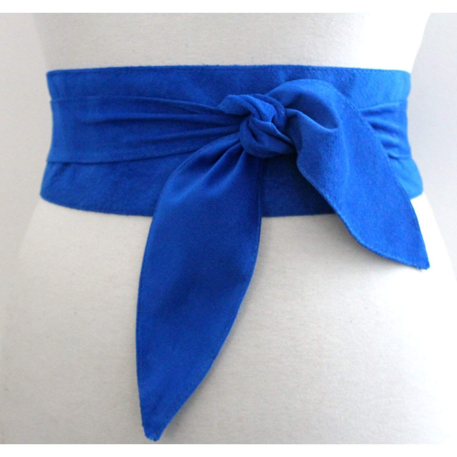 Blue Suede Obi Belt - loveyaayaa