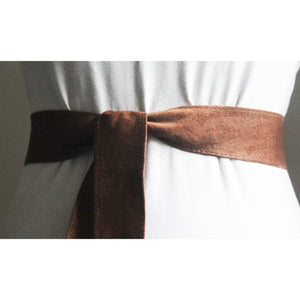Brown Suede Thin Obi Belt - loveyaayaa
