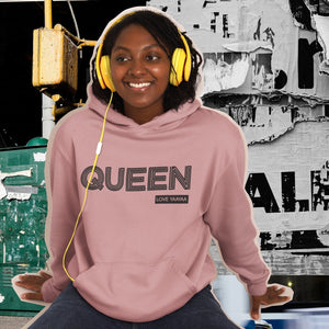 Dusty Pink QUEEN 'yes you are'Heavy Blend™ Hooded Sweatshirt