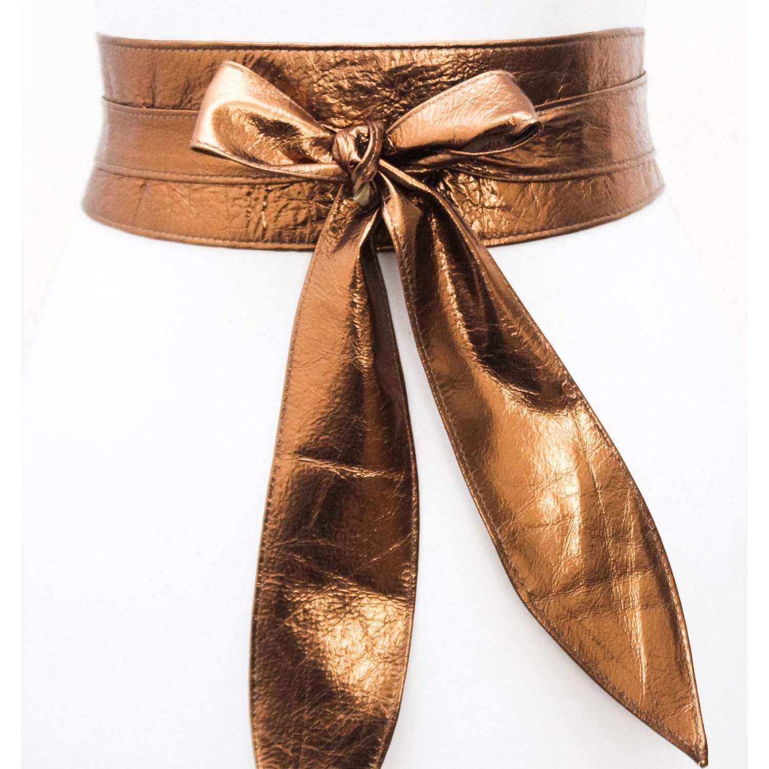 Copper Gold Leather Sash Belt | Copper Sash Belt | Copper Leather Obi belt | Leather Wrap Belt | Plus Size Belt | Gift for her Copper Belt - loveyaayaa