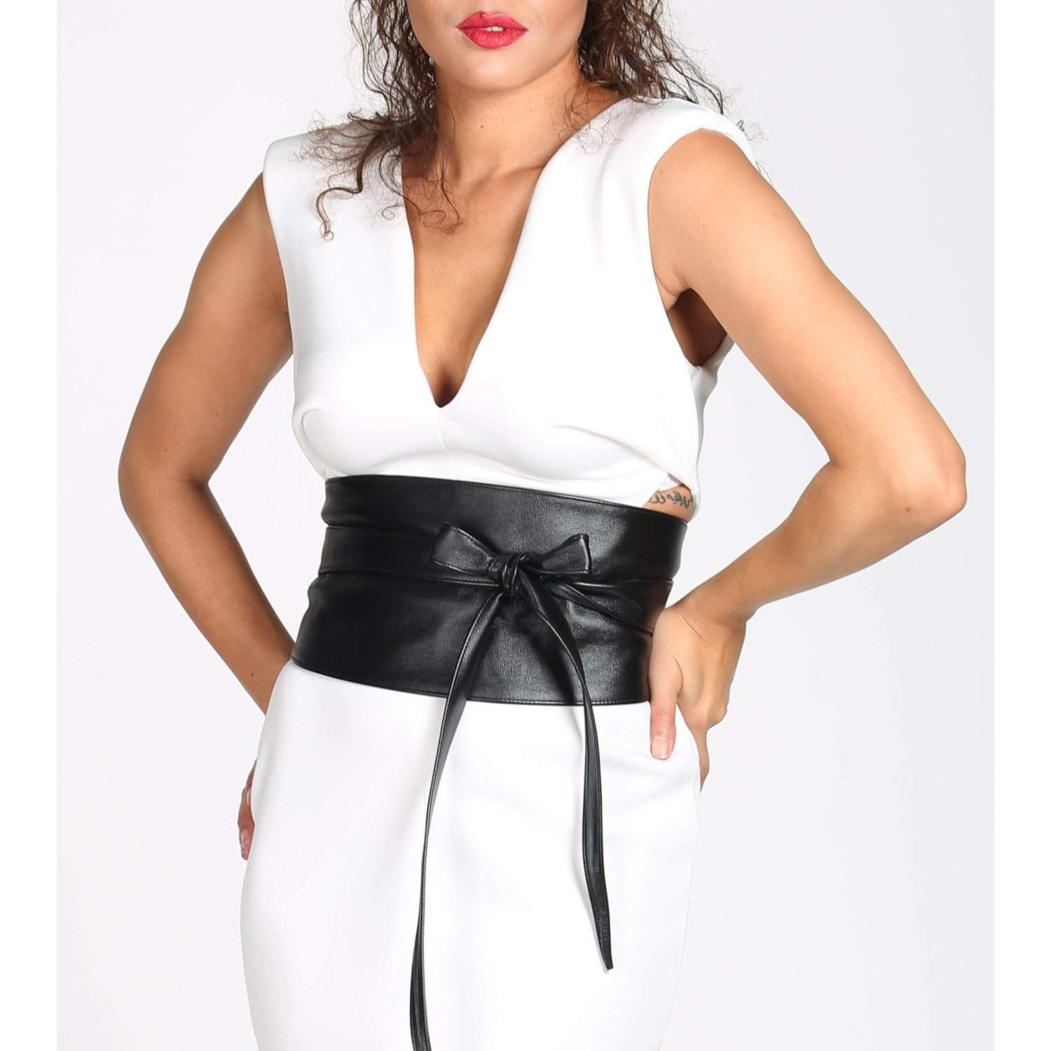 Corset Leather Belt | Black Corset Belt | obi belt | Plus size belts | Corset Belt Plus Size | Black waist belt | cinch belt | Obi Tie Belt - loveyaayaa