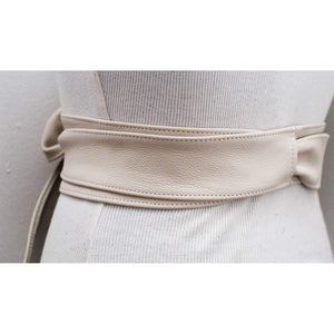 Cream Leather Obi Belt | Waist Belt | Obi belt |Leather Belt| Plus Size Belts - loveyaayaa