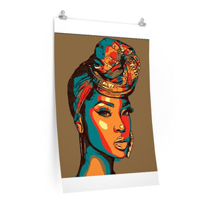 Headwrap Babe Premium Gloss vertical posters