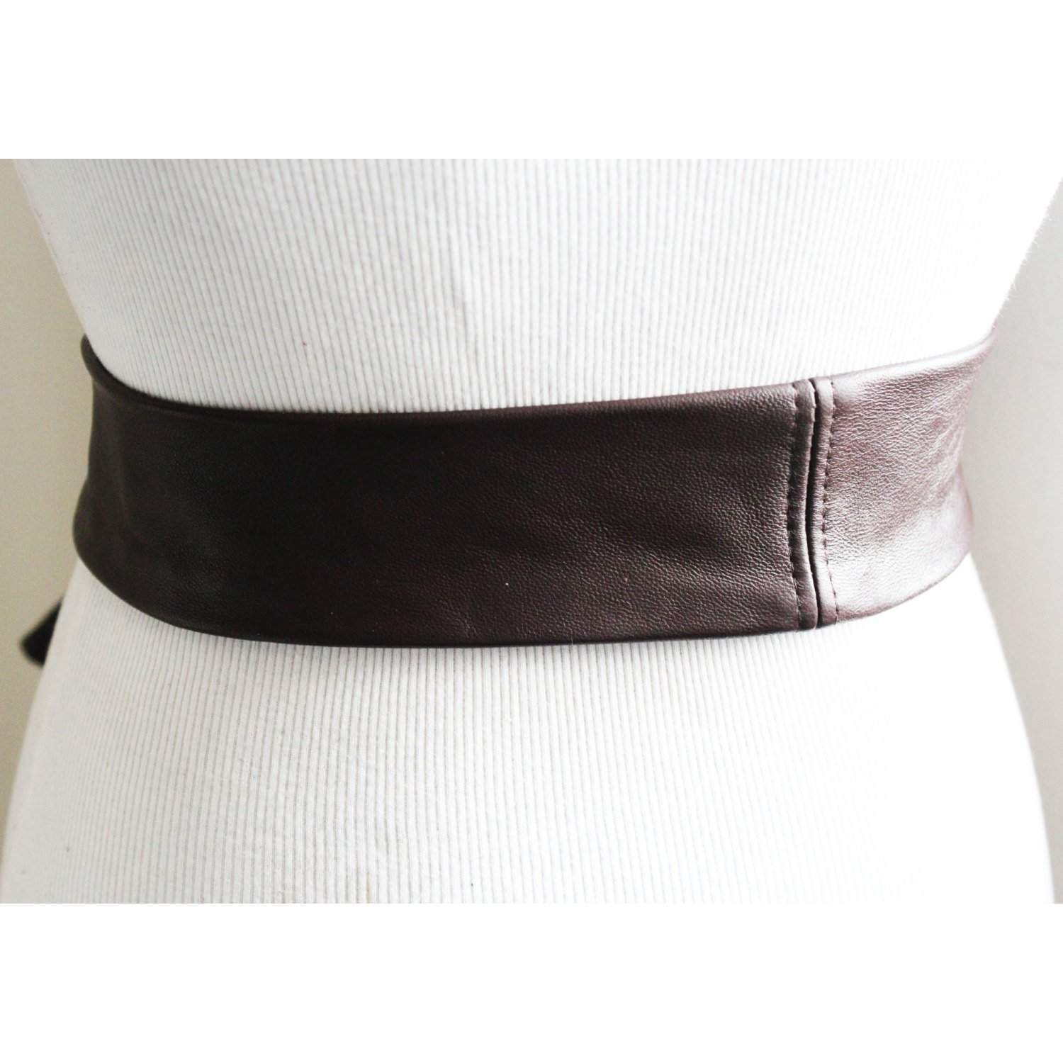 Dark Brown Soft Leather Coat Tie Belt | Leather Narrow Belt | Leather Replacement belt | Narrow Nappa Leather Belt - loveyaayaa