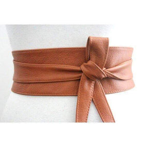 Dark Tan Leather Obi Belt | Waist or Hip Belt | Leather tie belt | Real Nappa Leather Belt| plus size - loveyaayaa