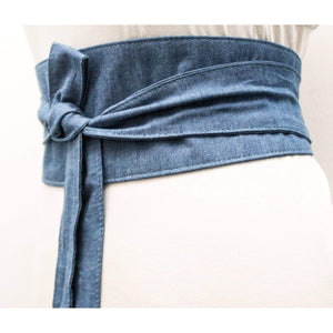 Denim Obi Belt - loveyaayaa
